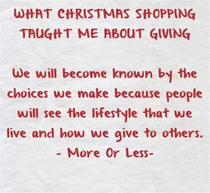 Letting God Do Your Christmas Shopping - KM Logan
