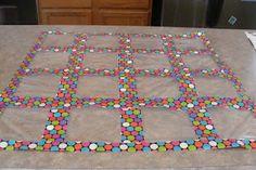 """ziploc baggie """"quilt"""" to display work in classroom"""