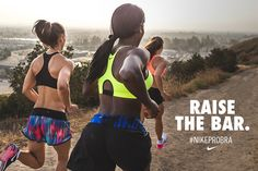 Summer sun is calling. Raise the bar on your running routine in the #NikeProBra.