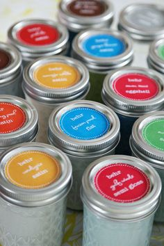 Store touch up paint in mason jars inside the home so you don't have to go searching through the garage when you need to use it.