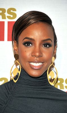 Kelly Rowland - Celebrity Black Hair Styles Pictures - StyleBistro