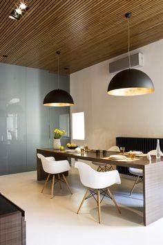 gorgeous dining area (black, gold, white)