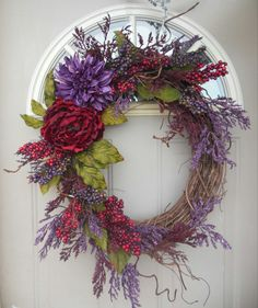 """Gorgeous Spring & Summer Wreath -- """"Classic Elegance""""... Great for year round use.. on Etsy, $62.00"""