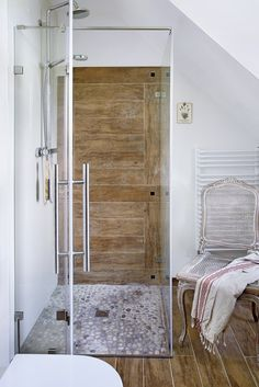 Rustic shower