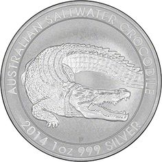 2014 1oz Australian Saltwater Crocodile. The first coin in a brand new series!