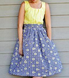 dress free, sew pattern, gather dress, sewing patterns