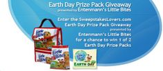 Enter the SweepstakesLovers.com Earth Day Prize Pack Giveaway presented by Entenmann's Little Bites for a chance to win 1 of 2 Earth Day Prize Packs !