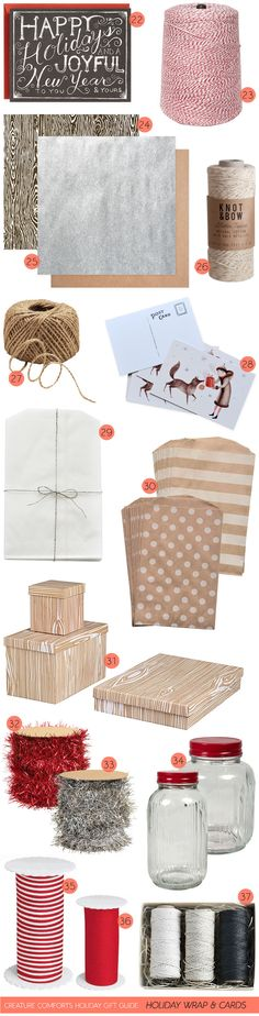 Creature Comforts Holiday Gift Guide: Holiday Wrap + Cards