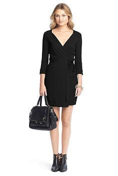 New Julian Two Mini Jersey Wrap Dress In Black