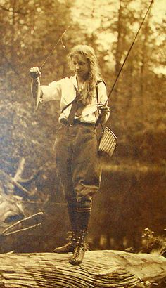 I know it's not a Tenkara rod, but this vintage photo is awesome! What man would not want a lady like this to go fishing with?