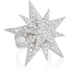 Ileana Makri Centaurus 18-karat white gold diamond ring found on Polyvore