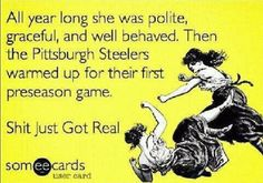 it just got real #Steelers