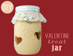 DIY valentine treat jar
