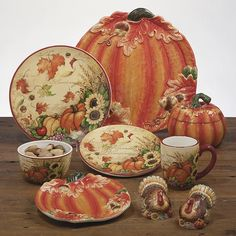 Harvest 3-D Pumpkin Candy Plate by Susan Winget - Certified International Dinnerware