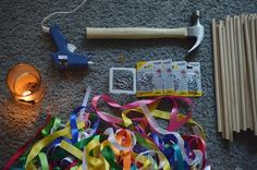 Make festive ribbon wands instead of throwing confetti | Offbeat Bride