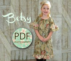 Betsy  Girl's Peasant Dress Pattern PDF Girl's by RubyJeansCloset, $7.95