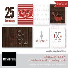 Fair Isle Printable..great for December Daily  www.amyhellerdesign.bigcartel.com