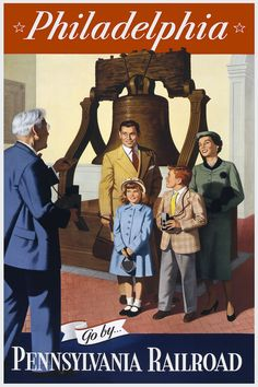 Liberty Bell  #vintage #travel #poster #USA