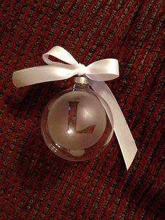 DIY Etched glass ornament, Christmas ornament