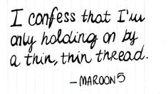 Maroon 5 - Sad~~ one of my favorite songs from this Band <3