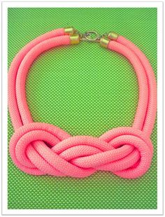 Hot Pink Rope Nautical knot Statement by OneCreativeButterfly
