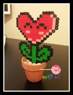 Flower Pot Mario Indoor Plant Home Decor by PixelCloset on Etsy, $18.00