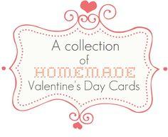 Homemade Valentine's Day Card Ideas via Nest of Posies holiday ideas, card idea, valentine day cards, nest, valentin diy, craft idea, pinterest card, homemade valentines, homemad valentin