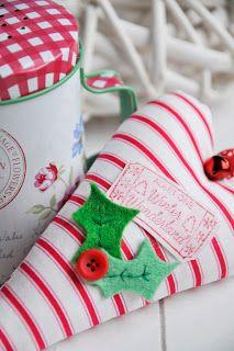 holiday, sew, heart ornament, helen philipp, holli heart, natal, christma time, christma craft, heart decor