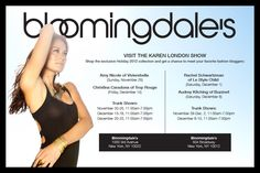 Karen London Trunk Show! You are all invited! Take a look at the details here http://renegadechicks.com/youre-invited-to-the-karen-london-jewelry-trunk-show-at-bloomingdales/