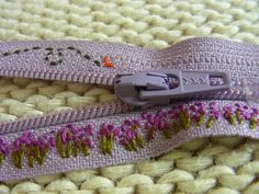 Embroidery onto zipper tape
