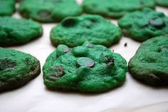 Making these for the St. Patrick's Day potluck at work tomorrow- only with white chocolate chips. Green food coloring here I come!