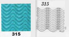 Рисунок волнами для крючка