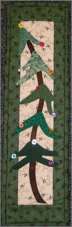 idea, craft, tree quiltnkaboodl, tabl runner, holidays, holiday tree, miniatur quilt, christmas trees, christma quilt