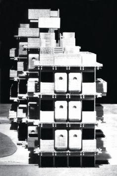 Kisho Kurokawa. Box-type Mass-produced Apartments, 1963