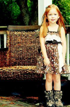 Upcycled ruffles dress