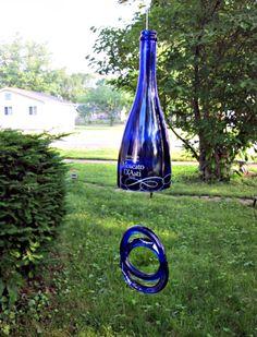 wine bottle windchime