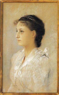 """""""Emilie Flöge, Aged 17"""" (1891) Gustav Klimt"""