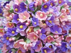 Forget Me Not Pink and Lavender Mix Flower Bouquet