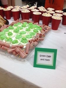 Dr. Suess party ideas, green eggs and ham, games, invitations and more! Thepartysoverhere.com