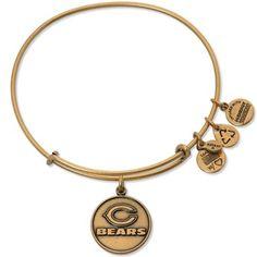 Alex and Ani Chicago Bears Ladies Logo Gold-Tone Bracelet #Bears