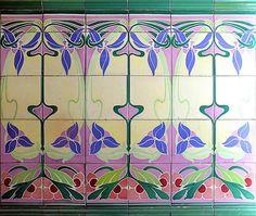 076, ceram magic, islam art, antiqu tile, art tile, barcelona, nouveau pattern, art nouveau, decor art