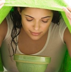 This article deals with the steam inhalation treatment. In this process the nose blockage is cleared. Cold, Cough, Bronchitis, Asthma, Acne vulgarize and Sinusitis. Tips : Can put few drops of Eucalyptus oil, Pudina, Tulsi leaves or Neem leaves to the boiling water to inhale the fumes for therapeutic purpose.