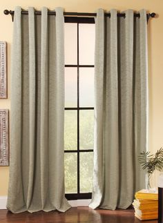 Utah Grommet Curtains are a lovely addition to any window. Panel have an unique tone on tone texture. 75% Polyester/25% cotton machine washable.  #Contemporary #Modern #Curtains