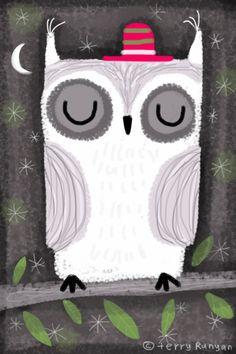 Terry Runyan - sleeping -in owl