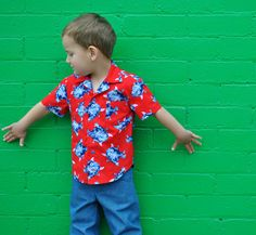 Boy's shirt sewing pattern The Thomas Shirt pdf sewing pattern, shirt pattern for 2 to 14 years. Hawaiian Shirt children's sewing pattern https://www.etsy.com/listing/196901977/boys-shirt-sewing-pattern-the-thomas?ref=shop_home_active_2