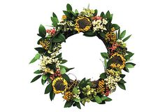 17 Sunflower Twig Wreath