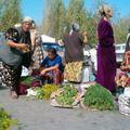 Mountains of fresh herbs.  Tashkent market