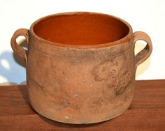 """Antique """"Vallauris"""" French Made Terracotta Pot 