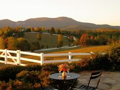 Autumn | Sit back on the stone patio and take in the foliage at The Red Horse Inn located in Landrum, SC.