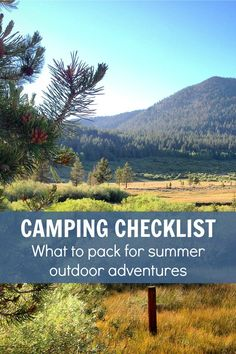 CAMPING CHECKLIST: Pin this list of camping gear to help you pack for your next camping trip